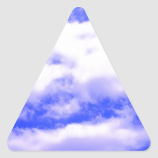 Clouds Triangle Sticker