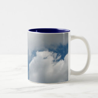 clouds Two-Tone coffee mug