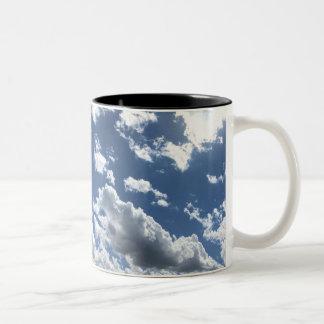 Clouds Two-Tone Coffee Mug