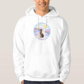 Clouds - Weimaraner Angel Hooded Sweatshirt