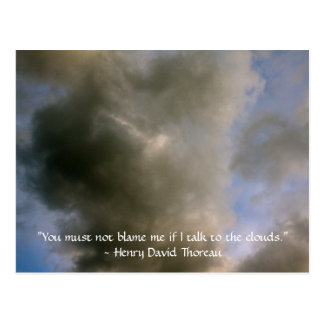 Clouds with Henry David Thoreau Quote Postcard