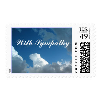 clouds With Sympathy Postage