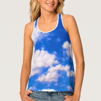 Clouds Women's All-Over Print Racerback Tank Top