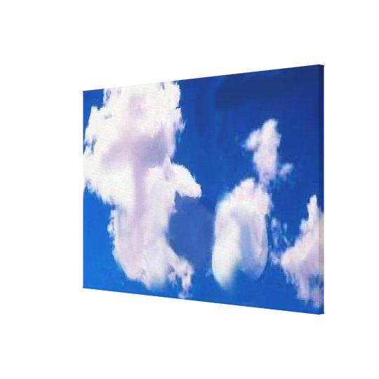 """Clouds Wrapped Canvas 36x24"""""""