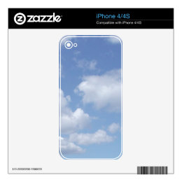 """Clouds"" Zazzle Skin Skin For The iPhone 4S"