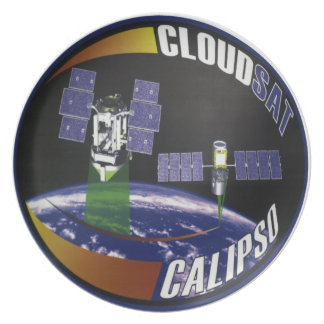 CloudSat and Calipso Melamine Plate