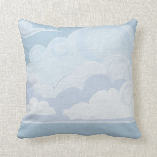 Cloudscape 1 throw pillow