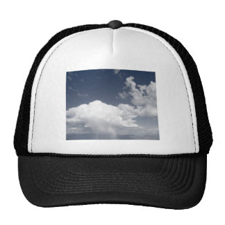Cloudscape over mountains trucker hat