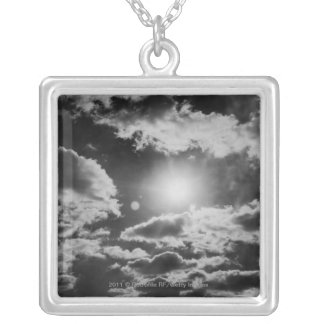 Cloudscape Silver Plated Necklace