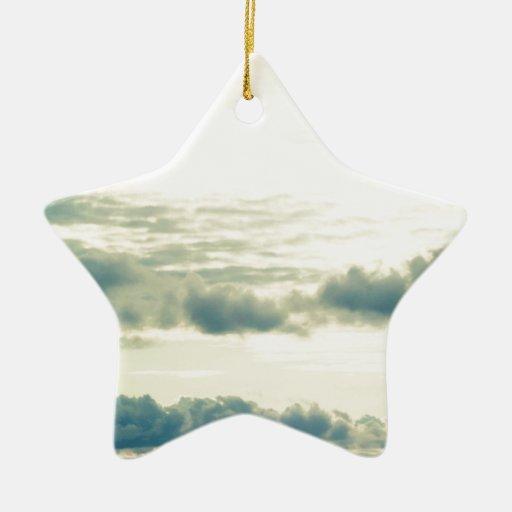 CloudsintheSky Adorno Navideño De Cerámica En Forma De Estrella