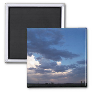 cloudy afternoon fridge magnet