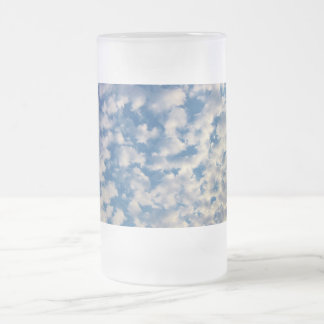 Cloudy Background Frosted Glass Beer Mug