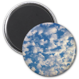 Cloudy Background Refrigerator Magnets