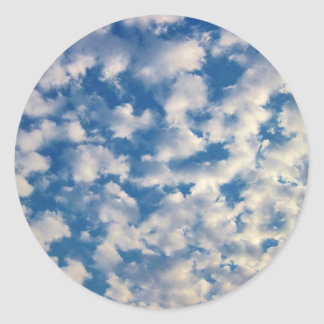 Cloudy Background Round Stickers