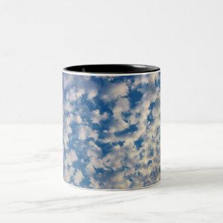 Cloudy Background Two-Tone Coffee Mug