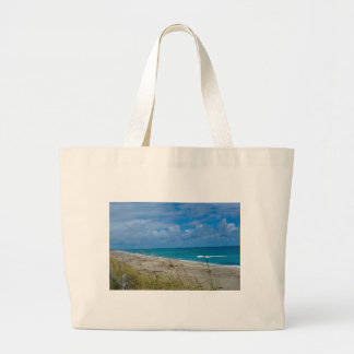 Cloudy Beach at Coral Cove Tote Bags