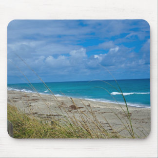 Cloudy Beach at Coral Cove Mouse Pad