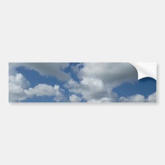 Cloudy blue sky bumper sticker