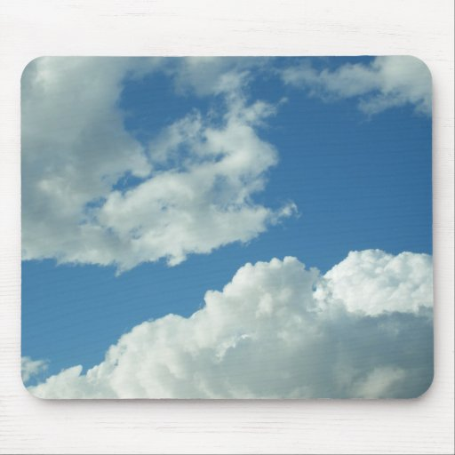 Cloudy Blue Sky Mouse Pad