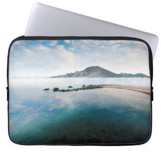 Cloudy Blue Sky Reflecting In Lake Computer Sleeves