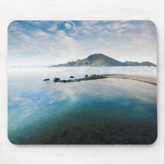 Cloudy Blue Sky Reflecting In Lake Mouse Pad