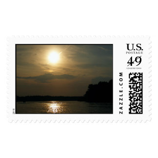 Cloudy but Sunny Day Postage Stamp