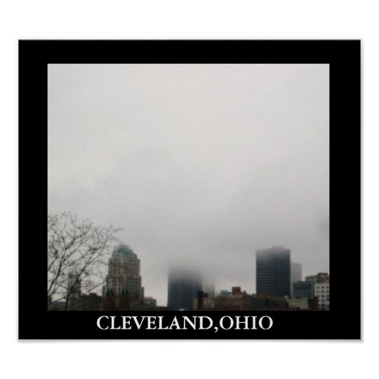 CLOUDY CLEVELAND poster