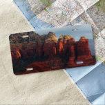 Cloudy Coffee Pot Rock in Sedona Arizona License Plate