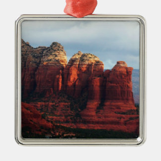 Cloudy Coffee Pot Rock in Sedona Arizona Metal Ornament