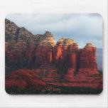 Cloudy Coffee Pot Rock in Sedona Arizona Mouse Pad