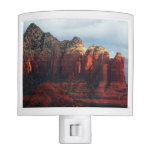 Cloudy Coffee Pot Rock in Sedona Arizona Night Light