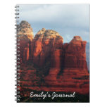 Cloudy Coffee Pot Rock in Sedona Arizona Notebook