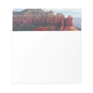 Cloudy Coffee Pot Rock in Sedona Arizona Notepad