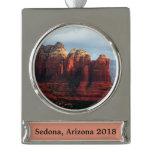 Cloudy Coffee Pot Rock in Sedona Arizona Silver Plated Banner Ornament