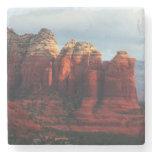 Cloudy Coffee Pot Rock in Sedona Arizona Stone Coaster