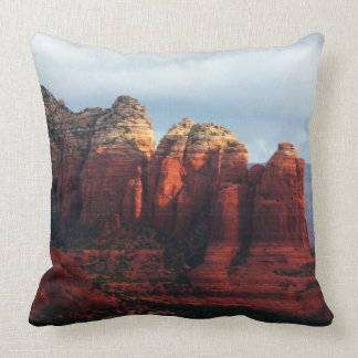 Cloudy Coffee Pot Rock in Sedona Arizona Throw Pillow