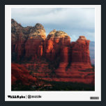 """Cloudy Coffee Pot Rock in Sedona Arizona Wall Sticker<br><div class=""""desc"""">Here&#39;s a view of Coffee Pot Rock from a high hill in Sedona. It was a cloudy day, but rays of sunshine peeked through here and there to highlight the red rocks. Sedona was truly one of the most beautiful places I&#39;ve been for nature photography. Also featured as the widescreen...</div>"""