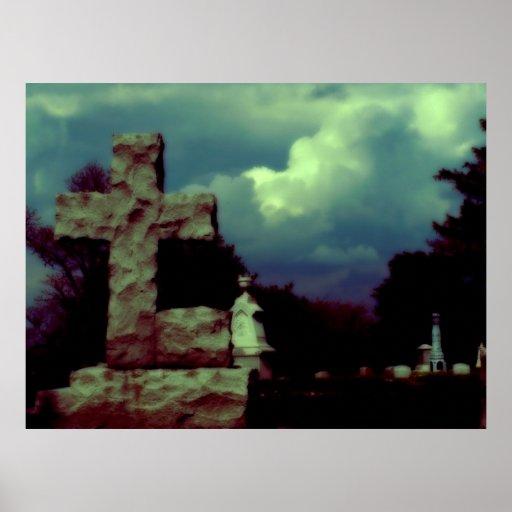 Cloudy Cross Print