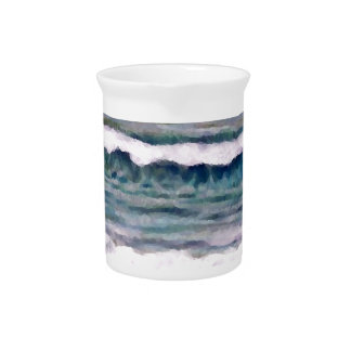 Cloudy Day 2 - CricketDiane Ocean Art Pitchers