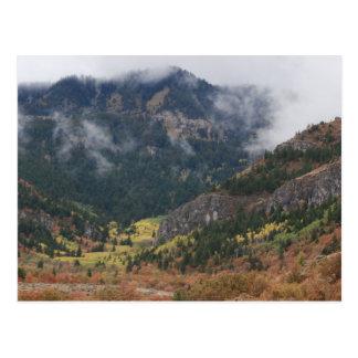 Cloudy Day At Logan Canyon Postcard