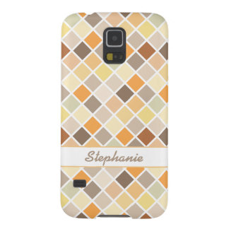 Cloudy day at the beach harlequin pattern galaxy s5 cover