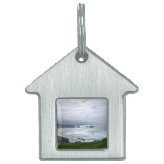Cloudy Day at the Oregon Coast Pet ID Tags