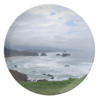 Cloudy Day at the Oregon Coast Party Plate