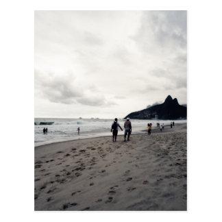 Cloudy Day in Ipanema Postcard