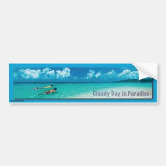 Cloudy Day In Paradise - Bumper Sticker Car Bumper Sticker