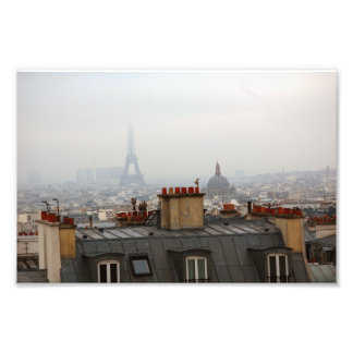 Cloudy day in Paris Photographic Print