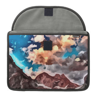 cloudy day mountain peak painting. MacBook pro sleeve