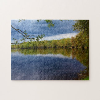 Cloudy Day Reflections Jigsaw Puzzle