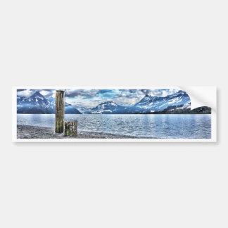 Cloudy day RK lake lucerne Bumper Sticker