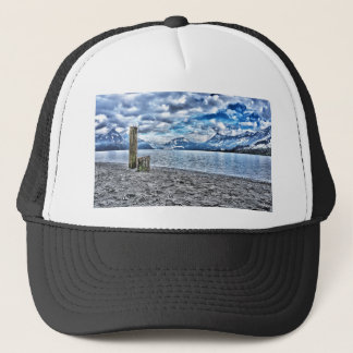 Cloudy day RK lake lucerne Trucker Hat